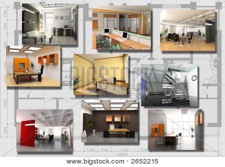 Modern Office Interior Image Set