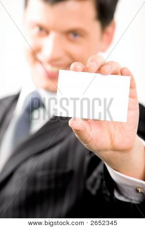 Man With Card