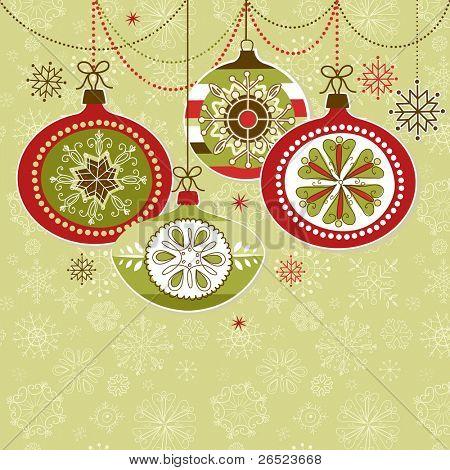Adornos navideños retro
