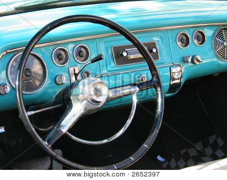 Old Classic Car Dashboard