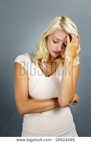Stressed Young Woman
