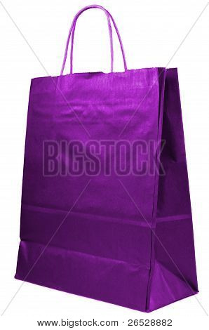 Paper Bag With Handles Close-up