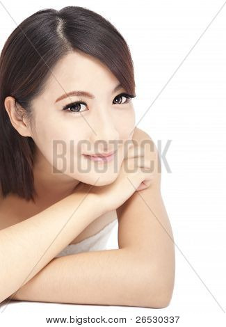 Beautiful asian Woman close up