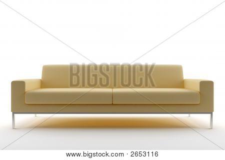 Beige Sofa Isolated