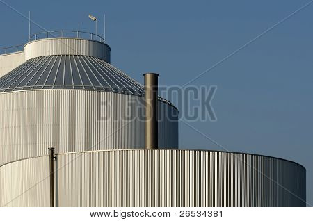 Detail of a silo of an industrial plant