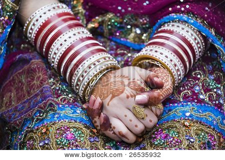 Indian Bride Hands Clasped