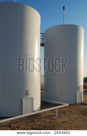 Twin Storage Tanks