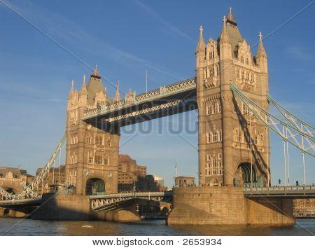 Tower Bridge In Central London.