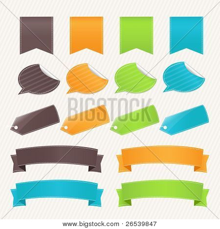 Collection Web Elements And Stickers, Vector Illustration