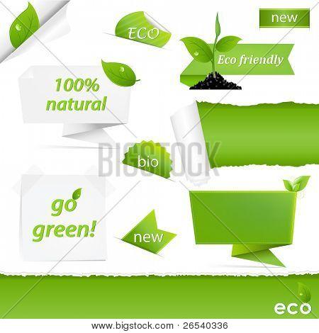 Eco Green Set, aislado sobre fondo blanco