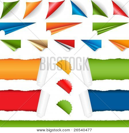 Corners Set, Isolated On White Background, Vector Illustration