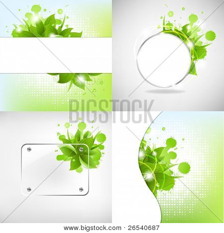 Abstract Backgrounds With Blots, Vector Illustration