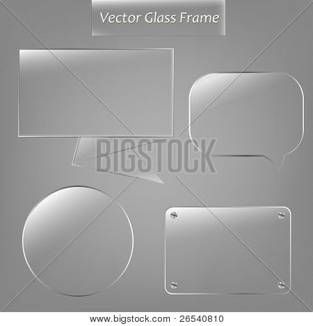 Marco de cristal 4, Vector Illustration