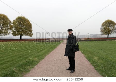 Man Posing In The Park