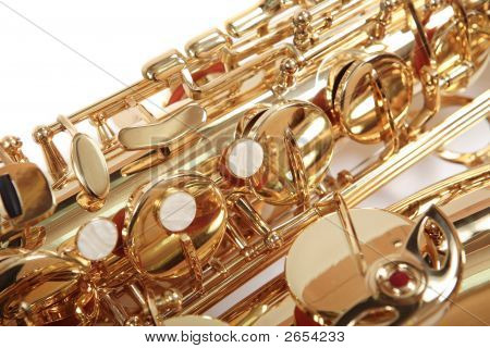 Background. Golden Saxophone.