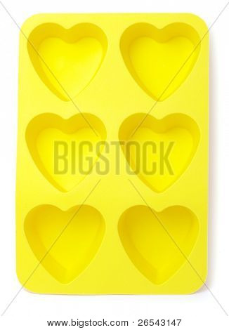 heart shaped  tray isolated on white