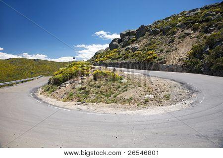 180 Curve In Rural Road