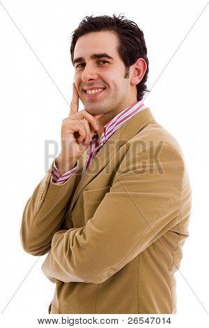 retrato de homem de negócios jovem isolado no branco