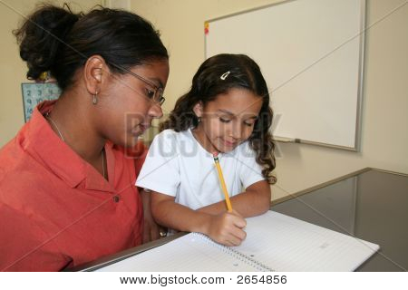 Girl And Teacher
