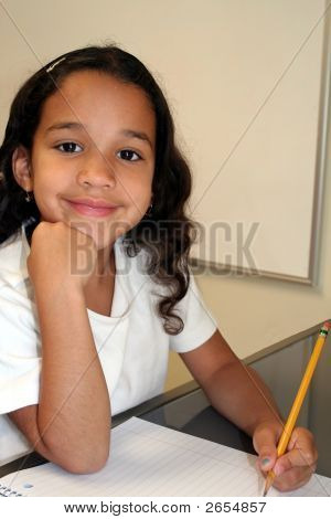 Young Girl At School