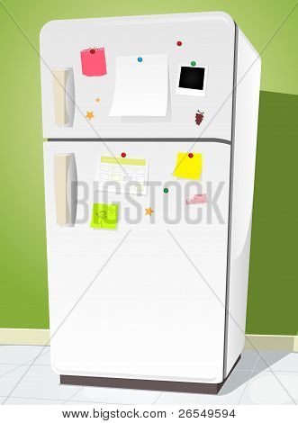 Fridge With Notes