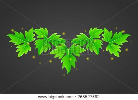 Green Magic Leaves With Yellow