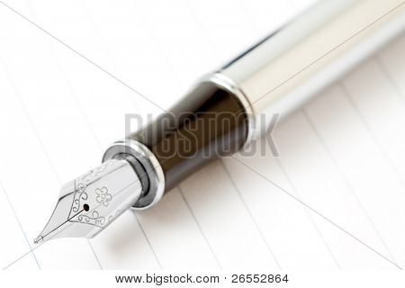 Fountain writing pen on a white background.