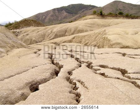 landscape cracked soil fissure ground