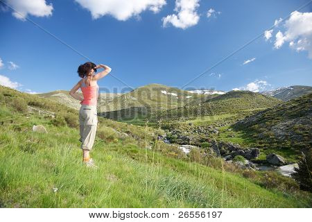Looking At Far Mountains