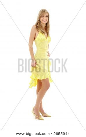 Lovely Girl In Yellow Dress
