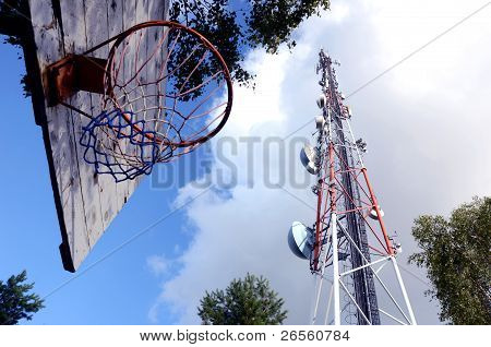 Backboard Near Relay Station