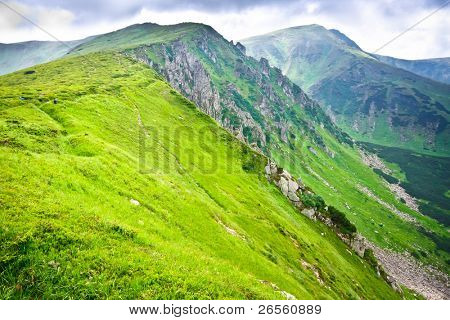 Beautiful mountains landscape in Carpathian