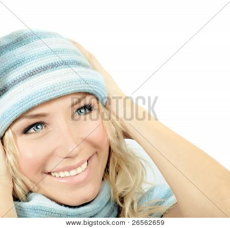 Cute Girl Wearing Winter Hat