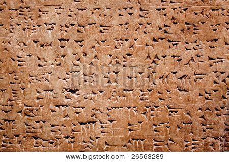 Keilschrift der alten assyrischen oder sumerische Zivilisation im Irak