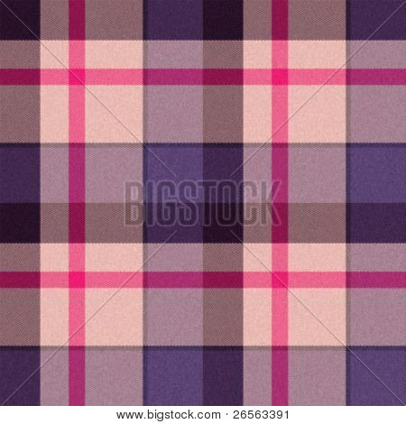 Realistic seamless tartan or plaid  texture with visible threads in bright colors