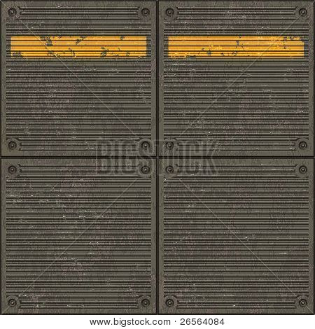 Seamless texture of pavement with a caution yellow line