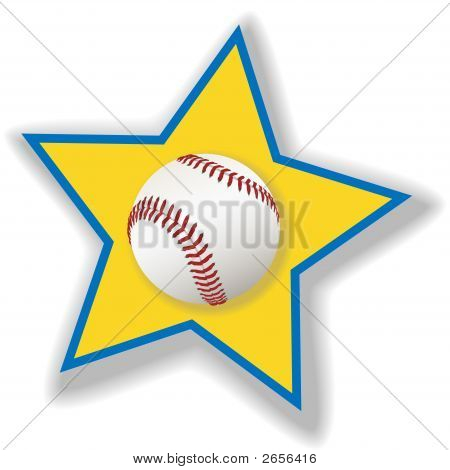 All Star Baseball Or Softball