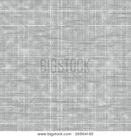Seamless white coarse fabric texture with visible threads