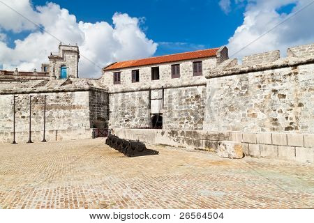 The fortress of La Fuerza in Havana, Cuba in a beautiful summer day