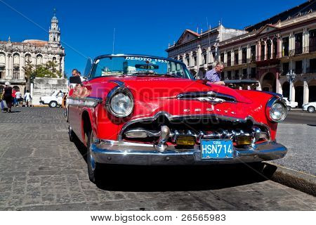 HAVANA - NOVEMBER 30: American classic car November 30, 2010 in Havana.Cubans ,unable to buy newer models,keep thousands of them running despite the fact that parts have not been produced for decades