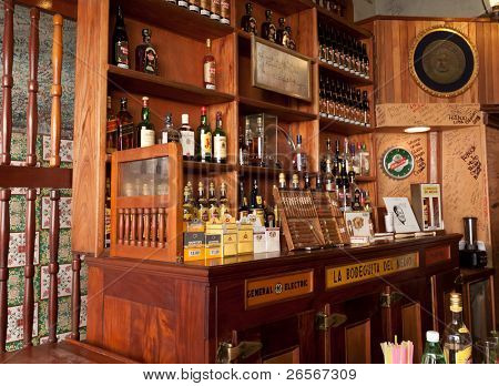 HAVANA-MARCH 25: La Bodeguita del Medio March 25, 2011 in Havana.The birthplace of mojito, this is a main tourist attraction and has been a favorite of celebrities like Ernest Hemingway and others