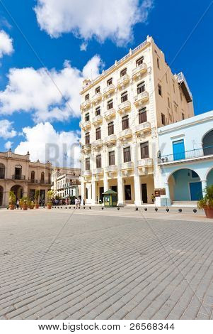Plaza Vieja in Old Havana on a beautiful summer day