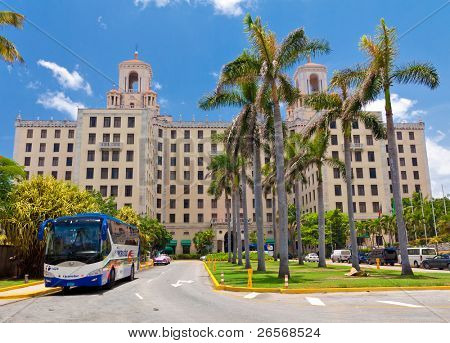HAVANA-JUNE 26:The Hotel Nacional June 26,2011 in Havana.This luxury hotel,opened in 1930,was the favorite destination in Cuba for celebrities from Frank Sinatra, Ava Gardener or Winston Churchill