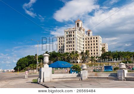 HAVANA-SEPTEMBER 18:The world famous Hotel Nacional September 18,2011 in Havana.This hotel,opened in 1930,is an icon for tourism in Cuba; an industry attracting over 2 million people a year