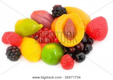 Fruit candy ? strawberry apricot peach raspberry fig currants plum banana lemon pear blackberry