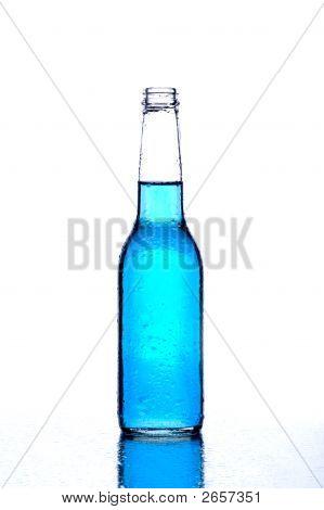 Bottle Blue On White
