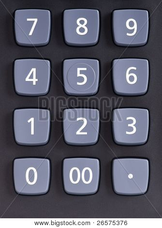 Big black calculator - keypad background
