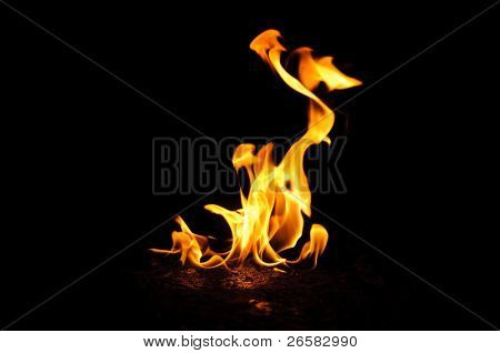 Abstract fire flame