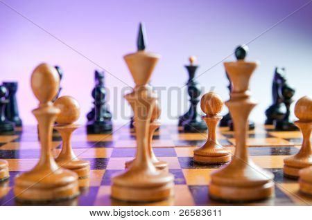 Chess. focus om pawn.