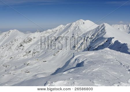Balea Ski Resort In Transylvania Romania Viewed From Above